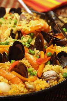 Paella is a Spanish dish made up of seafood, rice and spices. Red Lobster's seafood paella is made up of mussels, sea scallops, and shrimp. You can try out this easy to make recipe to serve it at home at a fraction of the cost if you dine-in at the restaurant. http://www.copycatrecipeguide.com/How_to_Make_Red_Lobster_Seafood_Paella