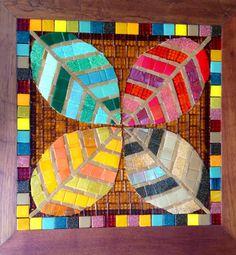 Tampo de Mesa / Mosaico de Folhas