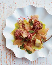 Scallops in Yellow Curry with Spicy Grapefruit Salad | FOOD + WINE | January 2014 | Recipe: Andrea Reusing | Photo: Con Poulos