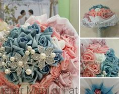 Alternative bouquet, for brides who want to look elegant and original on Yes, creativity is the right word that represents them in their being,