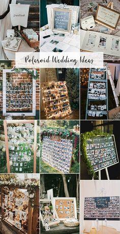 20 Creative Wedding Ideas to Use Polaroid - Oh Best Day Ever - Hochzeit - trending polaroid wedding ideas - Wedding Book, Diy Wedding, Wedding Events, Rustic Wedding, Dream Wedding, Civil Wedding, Casual Wedding, Weddings, Diy Photo Booth