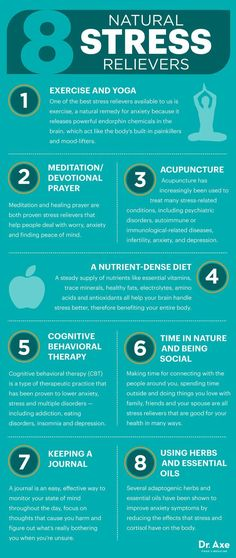 Are you always stressed? Try these eight natural stress relievers that are sure to help you not only manage your stress levels.