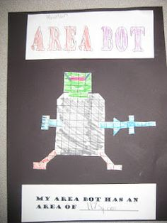 Area Bot What a fun activity!  This link also has a preceding activity using Cheez-its to find area.