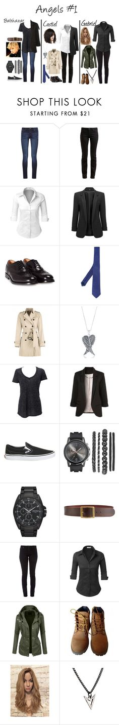 """Supernatural Angels #1"" by caroline3214 ❤ liked on Polyvore featuring DL1961 Premium Denim, G-Star, LE3NO, Church's, Tonello, Burberry, La Preciosa, Simplex Apparel, Vans and Armitron"