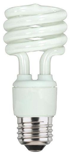 13 Watt Mini-Twist CFL Light Bulb, 6500K Daylight E26 (Medium) Base, Box