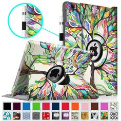 AmazonSmile: Fintie iPad Pro 9.7 Case - 360 Degree Rotating Stand Case with Smart Cover Auto Sleep / Wake Feature for Apple iPad Pro 9.7 Inch (2016 Version), Love Tree: Computers & Accessories