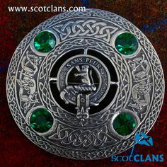 Sutherland Clan Crest Plaid Brooch