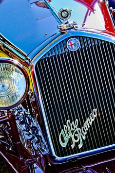 1932 Alfa Romeo 6c 1750 Series V Gran Sport Grille Emblems - Car Images by Jill Reger