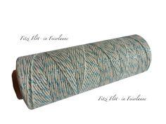 Verpackungsmaterial - Bäcker-Garn Bakers Twine natur blau - ein Designerstück von Fitzi-Floet bei DaWanda