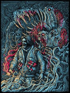Killer poster for The Thing by Dan Mumford
