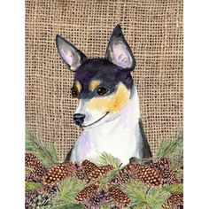Caroline's Treasures Fox Terrier 2-Sided Garden Flag
