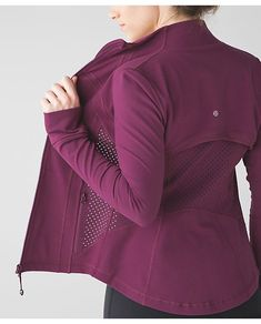 lululemon red-grape-define-exhale Lululemon Dress, Lululemon Sweater, Lululemon Clothing, Lululemon Jacket, Exercise Clothes, Workout Clothing, Workout Outfits, Yoga Clothing, Clothing Ideas