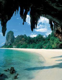 Phra Nang beach, Krabi, Thailand.