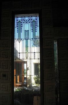 Charles Ennis House. 1924. Los Feliz neighborhood of Los Angeles, California. Frank Lloyd Wright. Textile Block Period.