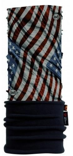 Buff Polar Headband, PV US Flag