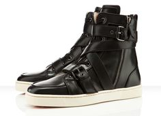 1b795e7b1af0 Sneakers  Christian Louboutin Spacer Flat (black leather w  buckles