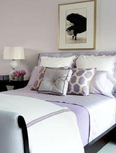 Amanda Nesbit - soft lilac bedroom    Live a luscious life with LUSCIOUS: www.myLusciousLife.com