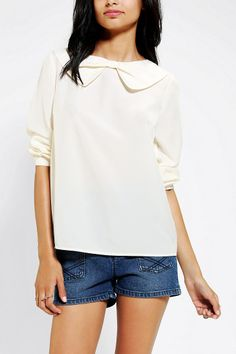 Coincidence & Chance Bow Neckline Blouse+  This would be so perfect with my orange skirt I just got from TopShop