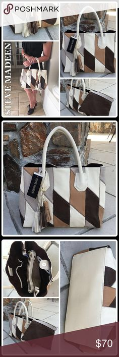 🔸FALL PREVIEW🔸PATCHWORK TOTE [STEVE MADDEN] Description to follow Steve Madden Bags Totes