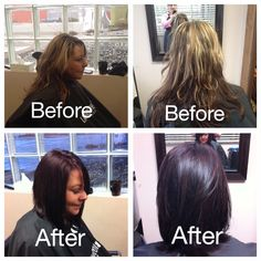 Before and after shots of one of our wonderful clients. This look was done by our extremely talented stylist, Rachel!  Call 604-852-2228 to book your appointment today at European Day Spa & Salon!  www.abbotsfordspa.ca info@abbotsfordspa.ca 100-32868 Ventura Ave. Abbotsford, B.C.