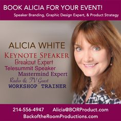 Interviews and Audios with Alicia White can be found here. Book Alicia for YOUR next event!!