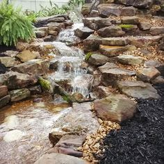 Another angle view of this new Pondless Waterfall. This Water Feature was just plugged in. Water Features, Waterfalls, Tennessee, Pond, Jackson, Nursery, Patio, Outdoor, Water Sources
