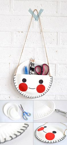 It's amazing what you can craft with paper plates! Here are 29 incredible paper plate crafts complete with pictured instructions. These paper crafts for kids… Kids Crafts, Paper Plate Crafts For Kids, Cute Crafts, Projects For Kids, Diy For Kids, Diy And Crafts, Craft Projects, Arts And Crafts, Paper Crafts