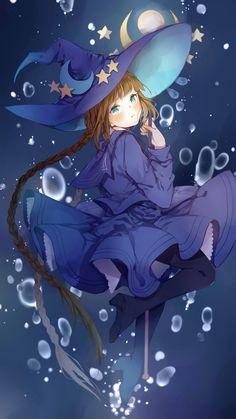 Wadanohara - Oounabara to Wadanohara - Mobile Wallpaper - Zerochan Anime Image Board Manga Anime, Art Manga, Anime Art Girl, Manga Girl, Fantasy Witch, Witch Art, Fantasy Girl, Anime Witch, Witch Manga