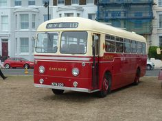 East Kent Road Car preserved AEC Reliance bus at 100th anniversary rally-sept 2016-Deal,Kent