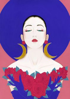 Japanese Drawings, Japanese Artists, Art And Illustration, Geisha Drawing, Amakusa, Vaporwave Art, Kumamoto, Japanese Painting, 2 Instagram