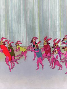 Running * Jennifer Davis    #flickr #dogs #art #painting