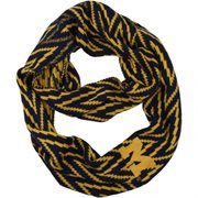 Michigan Wolverines Ladies Infinity Chevron Scarf - Navy Blue/Maize