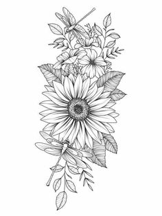Unique 30 small sunflower tattoo design ideas for women - unique 30 small sunflower tattoo Small Tattoo Designs, Flower Tattoo Designs, Small Tattoos, Form Tattoo, Shape Tattoo, 3 Tattoo, Sunflower Tattoos, Sunflower Tattoo Design, Daisy Flower Tattoos