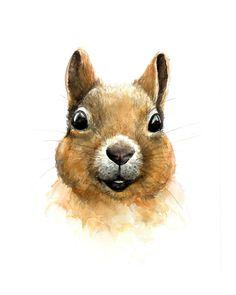 Ik weet niet iedereen is een fan van deze vervelende wezens, maar ik denk dat eekhoorns zijn pretty darn schattig... vooral deze kerel! Hij zou graag opknoping in uw kinderkamer, of bij uw familie vakantiehuis of cabine. * Dit is een aquarel van hoge kwaliteit afdrukken * Verkrijgbaar in 8 x 10 of 5 x 7 (liggend of staand) Message me voor aangepaste maten. Prints zijn van hoge kwaliteit en op een zwaar gewicht, zuur gratis, archivering papier. Elke prent is bedoeld om het laatst een zeer ...