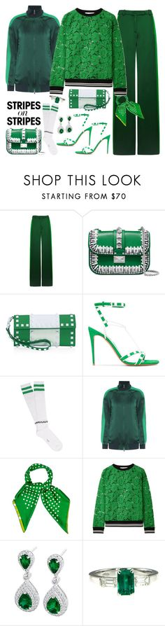 """""""Satin&Lace leisure suit"""" by ellenfischerbeauty ❤ liked on Polyvore featuring Valentino"""