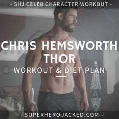Chris Hemsworth Workout: Learn how Chris Hemsworth trained and the workout and diet he used to prepare to become Thor! Chris Hemsworth Thor Workout, Chris Hemsworth Muscles, Chris Hemsworth Hair, Chris Hemsworth Funny, Chris Hemsworth Training, Thor Body, Weight Training Programs, Workout Programs For Men, Gym Program