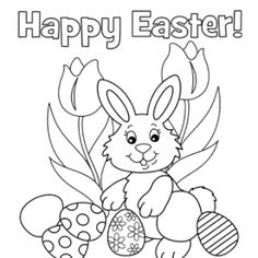 Print Happy Easter Coloring Pages Picture 1 550x634 picture