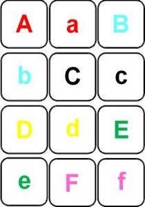 Correspondance de l 39 alphabet en script et en capitale lecture jeu de mots cursive script et - Lettre de l alphabet en majuscule a imprimer ...