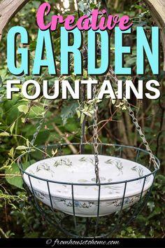 Outdoor Water Features, Water Features In The Garden, Garden Shed Interiors, Garden Junk, Garden Art, Lattice Garden, Mini Pond, Deck Makeover, Diy Water Feature