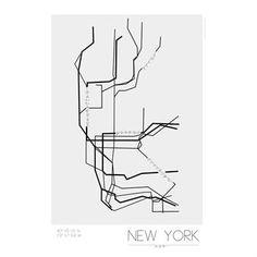 Underground Poster - New York - Kreativitum