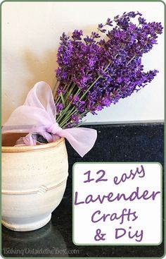12 Cute, Clever and Easy Lavender Crafts and DIYs.  Perfect for a handmade gift or a blissful little indulgence. via @LauraCHickman