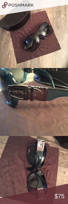 Auth. Oversized Gucci sunglasses early 00s style Auth. Oversized Gucci sunglasses early 00s style. Come siege original case. I'll include a cleaning cloth but it won't be Gucci. Lots of life left, just not my style. Not in perfect condition minor scratching wear throughout. Priced to sell. Gucci Accessories Sunglasses