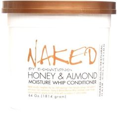 Naked Honey & Almond Moisture Whip Conditioner by Naked by Essations Natural Hair Care, Natural Hair Styles, Best Gift For Brother, Honey Almonds, Best Moisturizer, Going Natural, Natural Hair Inspiration, Body Love, Hair Conditioner