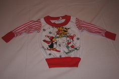 Vintage 1980's - KMart Santa's Club Baby Sweatshirt with Penguins by TheMercerStreetHouse on Etsy
