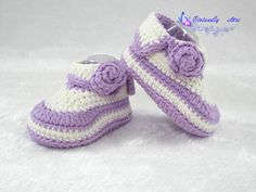crochet baby shoes baby booties handmade booties by VivianDIY1226