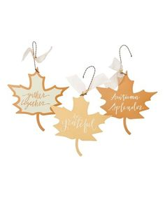 Another great find on #zulily! Autumn Tin Ornament - Set of Three #zulilyfinds