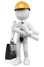 Illustration about white architect with plans hard helmet and briefcase. Illustration of concept, architect, illustration - 29517248 Letra Drop Cap, Royalty Free Images, Royalty Free Stock Photos, Emoji Photo, Powerpoint Animation, Sculpture Lessons, 3d Man, 3d Icons, Emoji Images