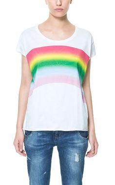 RAINBOW T-SHIRT - T-shirts - TRF - ZARA Philippines