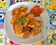 Soczyste nuggetsy w cieście jogurtowym - Blog z apetytem Tandoori Chicken, Cauliflower, Curry, Food And Drink, Meat, Dinner, Vegetables, Ethnic Recipes, Blog
