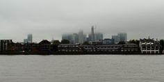 Fog over London Docklands
